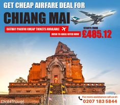 Are you looking for a good deal for Your wait gets over at cheap flight deals. Get tickets at Call at: 0207 183 5844 Best Airlines, Cheap Airlines, Cheap Flight Deals, Airfare Deals, Cathay Pacific, Book Cheap Flights, Cheap Tickets, Chiang Mai, Statue Of Liberty
