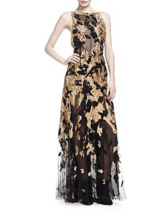 ***SOLD OUT***DONNA KARAN Hand Embroidered Open Back Gown Burnished Gold $14,500 (Compare elsewhere at $15,000) - - - WE ARE LOCATED AT *THE TRUMP BUILDING* ON WALL ST. IN NYC - ORDER PICK UP OR FREE DELIVERY WORLDWIDE - - - SHOP OUR OFFICIAL WEBSITE:  annesOFnewyork.com