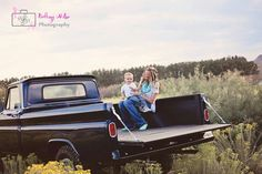 Mother & Son photo *taken by Brittany Miller photography* Family pictures with toddler '65 Chevy 4x4 New Mexico