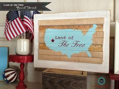 Chalkboard Blue: Land of the Free...