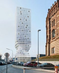 MVRDV hochhaus vienna tower twisted skyscraper designboom