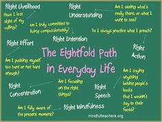 Mindful Teachers: The Eightfold Path in Everyday Life (Infographic)