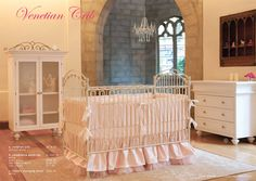 I love this! Putting the crib in the center of the room is not only different but a great idea. When someone walks into the room you want your baby to be the CENTER of attention! Doing this!