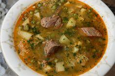 Sopa de quinua con carne