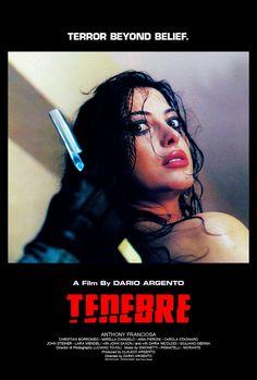 Dario Argento's Tenebre (1982) Movie Poster https://www.youtube.com/user/PopcornCinemaShow