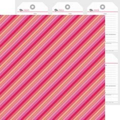 Item:4624 lipstick stripe double-sided cardstock (25 pc)