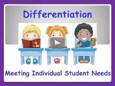 Tips & Strategies for Effective Differentiation & Instruction.wmv - This video will help teachers with differentiation of instruction to provide an effective, engaging, learning environment by creating a culture of student