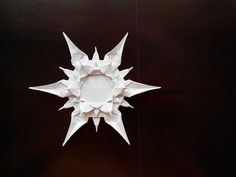 Симпатичная снежинка оригами, (Riccardo Foschi) Cute snowflake origami - YouTube Snowflake Origami, Origami And Quilling, Origami And Kirigami, Christmas Origami, Paper Snowflakes, Origami Stars, Origami Flowers, Origami Paper, Christmas Crafts