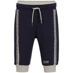 BOSS - Baby Boys Blue Jersey Trousers | Childrensalon