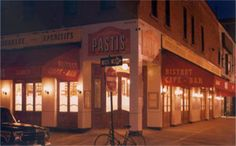 Pastis in NYC - Pastis, an impeccable replica of a Parisian brasserie, offers a menu that combines hearty Provençal dishes with moderately-priced bistro fare. The bar serves a range of house cocktails, wines by the glass, carafe or bottle, and several varieties of pastis, an anise-flavored aperitif from the south of France.