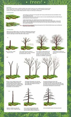 How to draw trees by madge