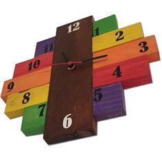 Handmade Wall Clocks, Unique Wall Clocks, Wall Clock Wooden, Wood Clocks, Diy Clock, Clock Decor, Bamboo Crafts, Wooden Crafts, Homemade Clocks