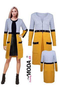 Predĺžte si leto a stavte na žiarivý predĺžený dámsky sveter v trendy farebnej kombinácii Leto, Trendy, Dresses For Work, Fashion, Moda, La Mode, Fasion, Fashion Models, Trendy Fashion