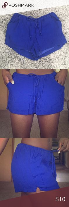 Cobalt Blue Shorts Simple classy breezy shorts. Lined. Good condition. Worn only a few times. Olsenboye Shorts