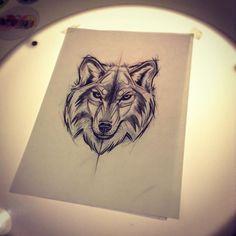 #wolf #sketch #guilleryan #lines #design #tattoo #art #tattoscute #proceso #weloveanimals @hunchtattoo @guilleryan.arttattoo @tattrx @tattoodo @tattoos_of_instagram by hunchtattoo