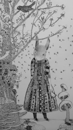 """""""The Go Between"""" by Dominique Wylestone (detail) - dry point etching Lancaster London, Printmaking Ideas, Illustration Art, Illustrations, A Level Art, Quiver, Ink Pen Drawings, Etchings, Print Artist"""