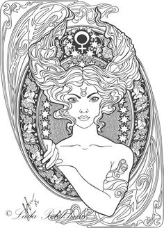Taurus  - Zodiac Signs Coloring Pages for Adults --> If you're in the market for the most popular adult coloring books and supplies including gel pens, colored pencils, watercolors and drawing markers, visit our website at http://ColoringToolkit.com. Color... Relax... Chill.