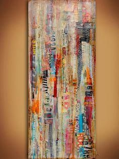 Esta pieza de arte uno-de-a-kind mixta fue hecha sobre un lienzo de 12x36x1.5. Lleno de tanto mirar-decide colgar en cualquier dirección, firmado por su lado-super brillo brillo en la parte superior y llega por cable listo para colgar.