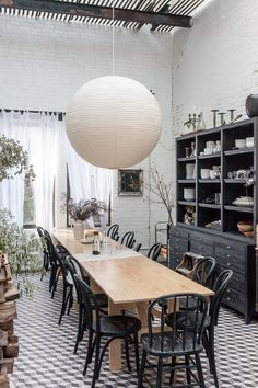 Dining Area at Cook Space Brooklyn, Photo by Sean Santiago