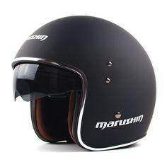 Genuine Marushin Retro Pilot Open Face Motorcycle Helmet Vintage Vespa Harley Moto Helmets Casque Casco Capacete motoqueiro ECE
