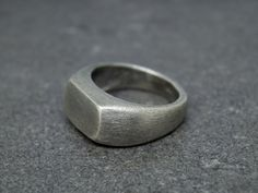 Signer ring men - Mens silver ring