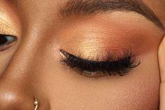 Brown Makeup Looks, Bronze Makeup Look, Light Makeup Looks, Golden Eye Makeup, Orange Eye Makeup, Pretty Eye Makeup, Subtle Makeup, Glam Makeup Look, Colorful Eye Makeup