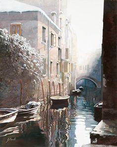 Venezia Sotto La Neve Guido Borelli