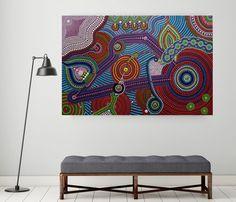 Abstract dot art schilderij Tessa Smits No.558 -wall