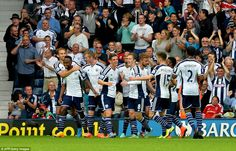West Brom 4-0 Burnley:Berahino at double to seal vital win for hosts #dailymail