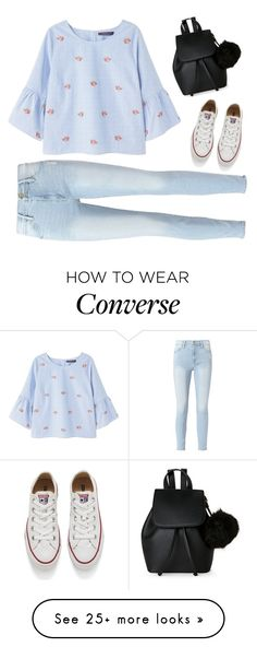 """¿Confused?"" by treelights29 on Polyvore featuring Violeta by Mango, Frame, Converse and IMoshion"