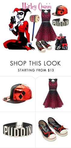 """Harley Quinn Inspired Outfit"" by wannabefamous212 ❤ liked on Polyvore featuring Norma Kamali"