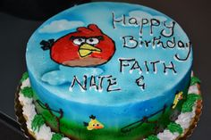"""""""Angry Birds"""" Birthday Cake Bittersweet Bake Shoppe Tyngsboro, Massachusetts"""