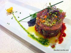 super fresh red tuna tartare - La Azotea Zaragoza