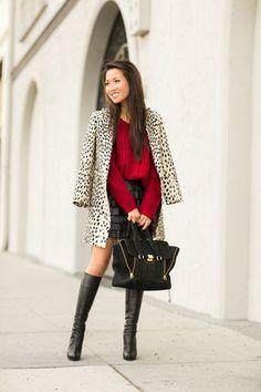 Cozy :: Oversized sweater & Fringe skirt | Wendy's Lookbook | Bloglovin'