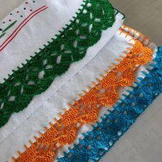 Bico de crochê: 70 modelos e 10 tutoriais com passo a passo Crochet Lace Edging, Crochet Squares, Crochet Stitches, Embroidery Stitches, Crochet Baby, Free Crochet, Hand Embroidery, Crochet Patterns, Crochet Projects