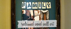 Family picture wall art decor