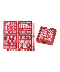 Look what I found on #zulily! Xmas Wine Coaster - Set of Four #zulilyfinds