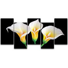 Lilies in the Dark 4 Piece Metal Graphic Art Set