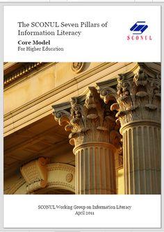 The SCONUL Seven Pillars of Information Literacy Core Model For Higher Education /[@pipsno1pal + @ruthstubbings | #readyfortransliteracy