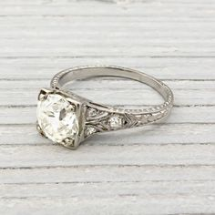 1.15 Carat Vintage Diamond Engagement Ring | New York Vintage & Antique Estate Jewelry – Erstwhile Jewelry Co NY