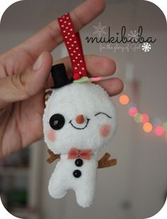 CHRISTMAS ORNAMENT frosty the snowman cute ornament por mukibaba