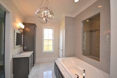 Custom Master Bath With Carrera Marble floors  Casiewebbdesigns Ketteringham Builders