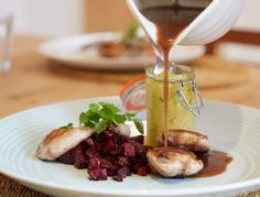 Norfolk Quail with Beetroot and Piccalilli