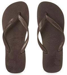 024724b40eeed6 Havaianas Top Flip Flops - Dark Brown