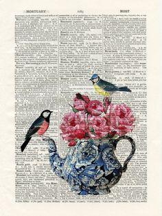 . Collage Kunst, Collage Art, Decoupage Vintage, Decoupage Paper, Book Page Art, Book Art, Diy Crafts Vintage, Art Photography Portrait, Foto Transfer