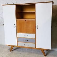 Image of Grande armoire secrétaire multifonctionnelle Vintage