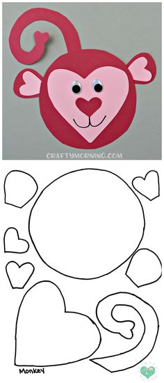 Free Printable Templates of Heart Shape Animals - Crafty Morning