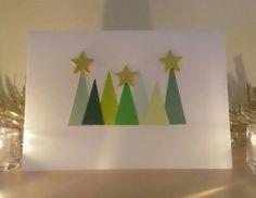 modern Christmas tree card by CraftsbyrosieGB on Etsy