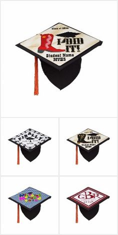 Stand out in the crowd of #Grads ! Custom  #Graduation Caps #Just4grad #Class of #GraduationClass #Zazzle #Gravityx9