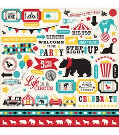 Colorful and unique, the Carta Bella Circus Party Cardstock Stickers-Element will make a great addition to your sticker collection. This pack contains more than 50 acid and lignin-free stickers featur